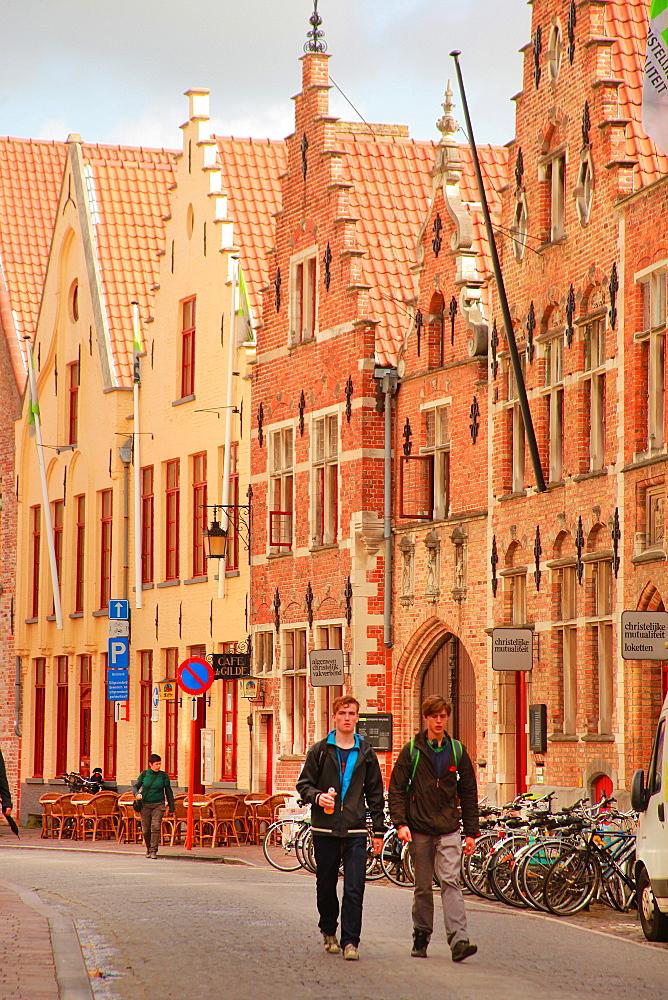Oude Burg, Bruges, Flemish Region, West Flanders, Belgium, Europe