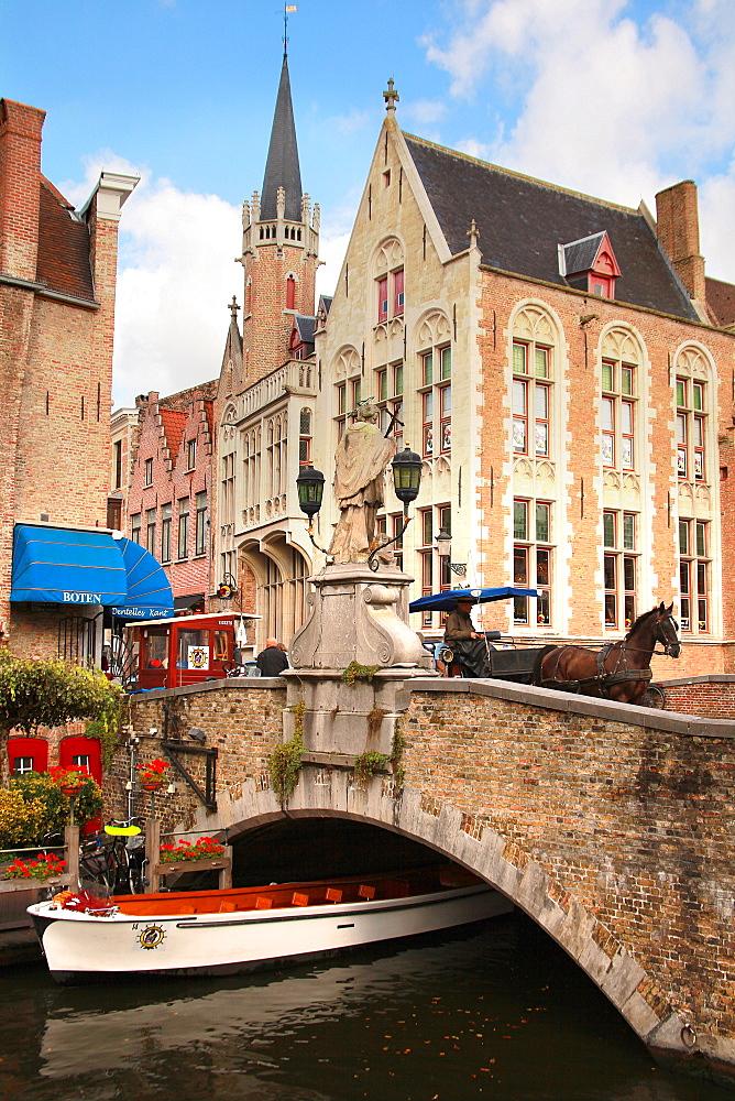 The Dijver Canal, Bruges, Flemish Region, West Flanders, Belgium