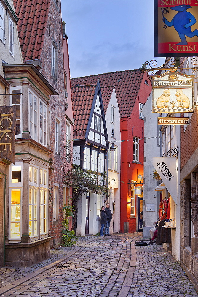 Schnoor district, Bremen, Germany
