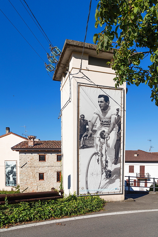 On the Fausto Coppi's roads, Castellania, Tortona area, Alessandria, Piedmont, Italy, Europe