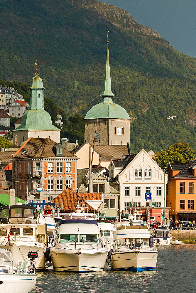 City center of Bergen, Norway