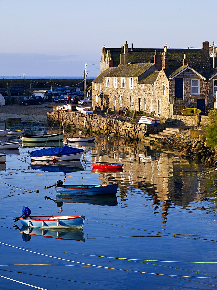 The picturesque fishing village of Mousehole, Cornwall, England, United Kingdom, Europe - 1295-285