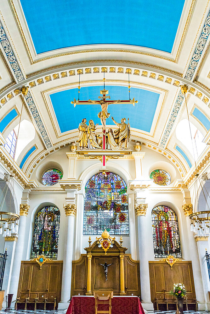 Interior of St Mary Le Bow church in London, England, United Kingdom, Europe