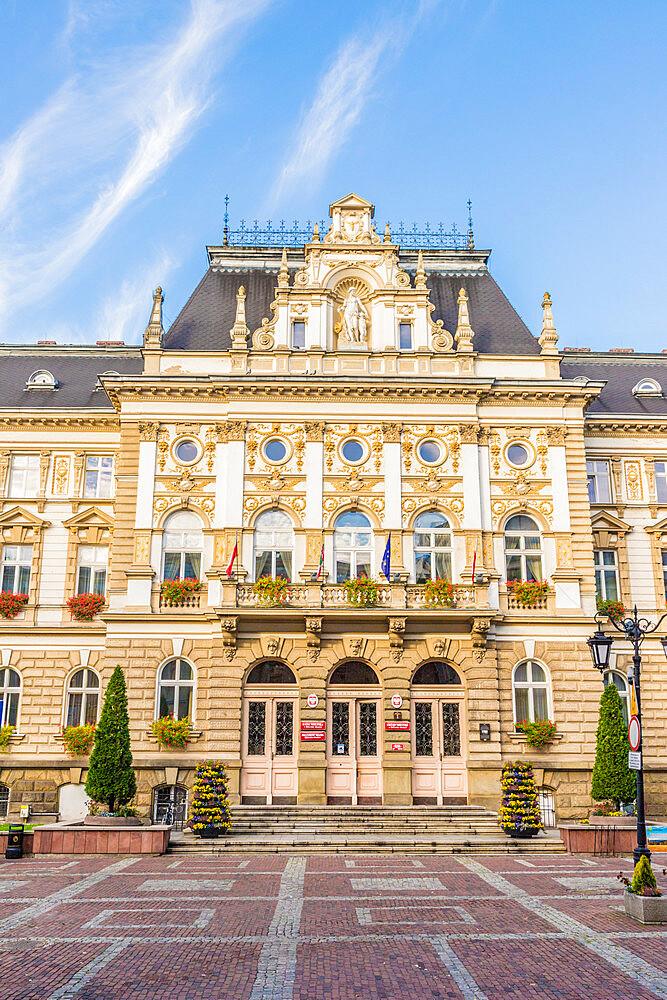 Town Hall in Bielsko Biala, Silesian Voivodeship, Poland, Europe - 1297-1124