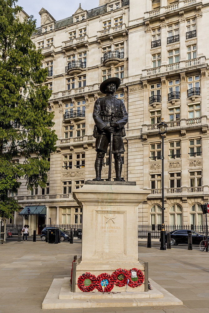 The Gurkha Memorial (Memorial to the Brigade of Gurkhas), Westminster, London, England, United Kingdom, Europe