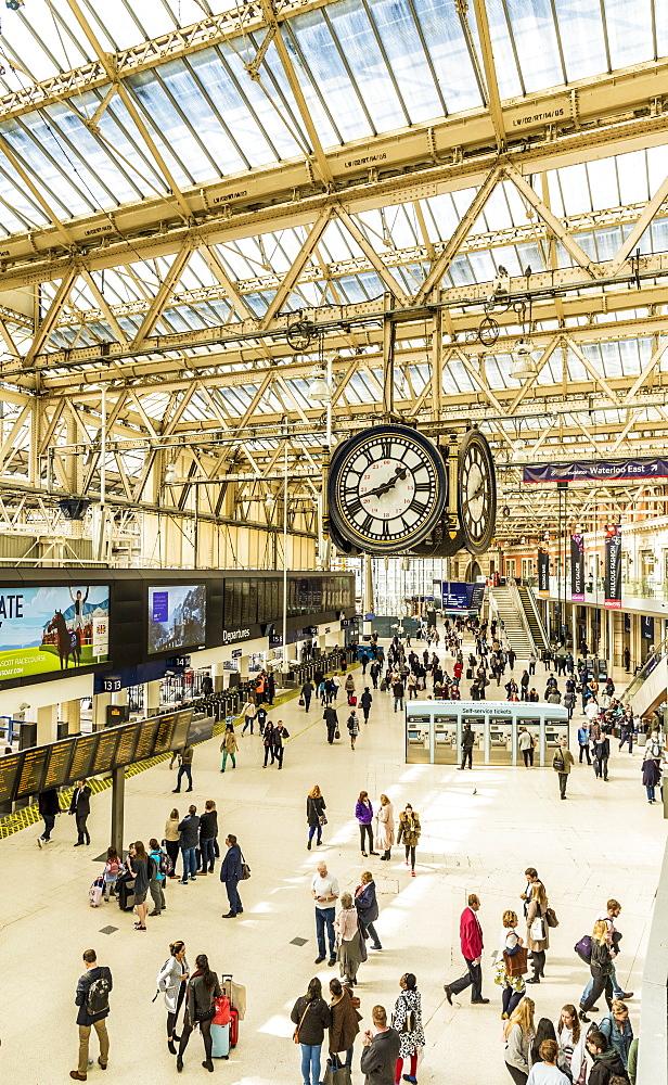 Waterloo station in London, England, United kingdom, Europe.