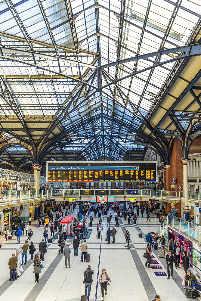 Liverpool Street Station, London, England, United Kingdom, Europe