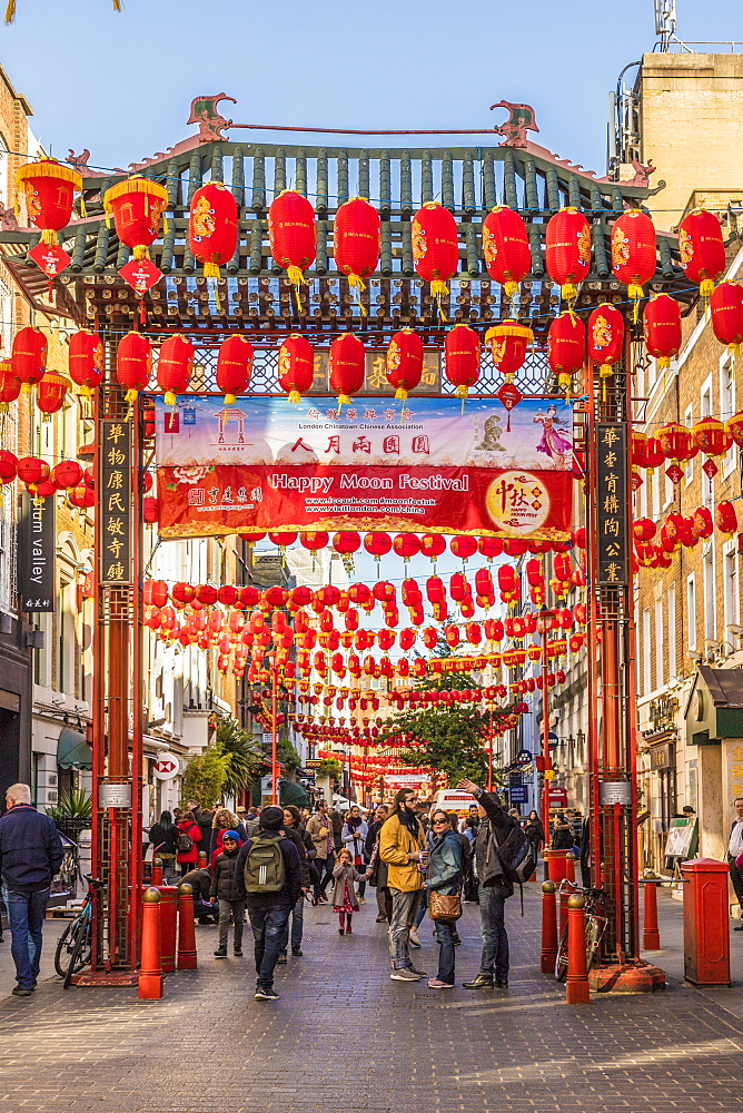 Gerrard Street in Chinatown, London, England, United Kingdom, Europe - 1297-436