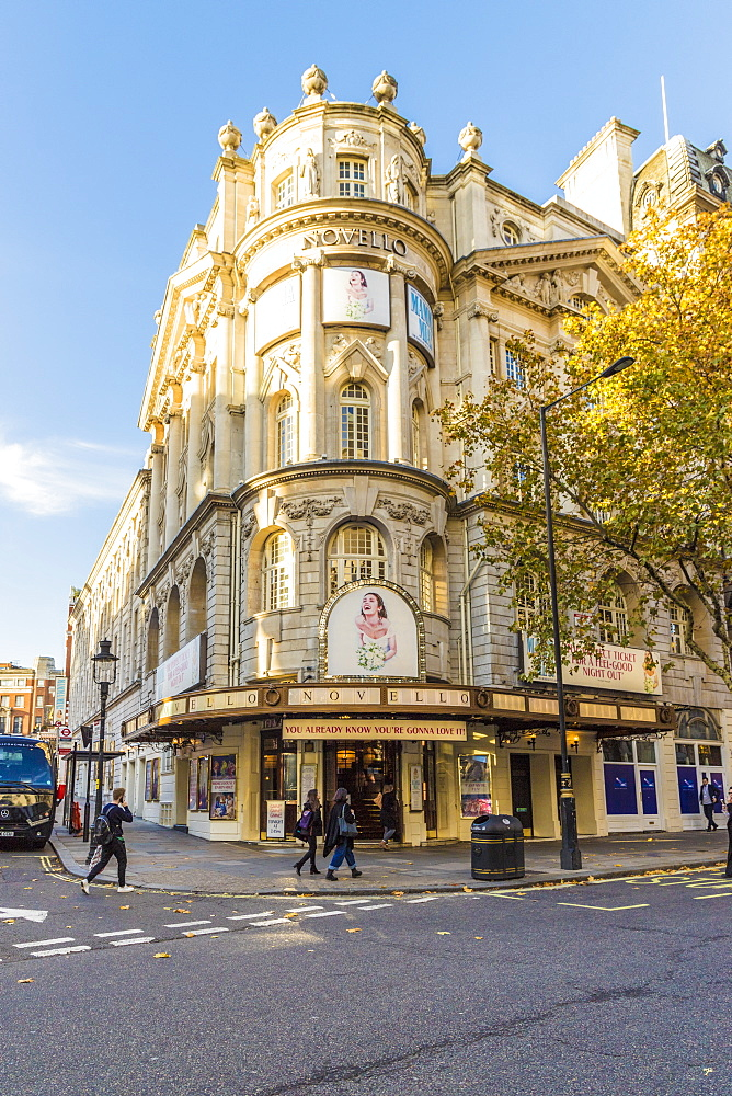 The Novello theatre in Covent Garden in London, England, United Kingdom, Europe.