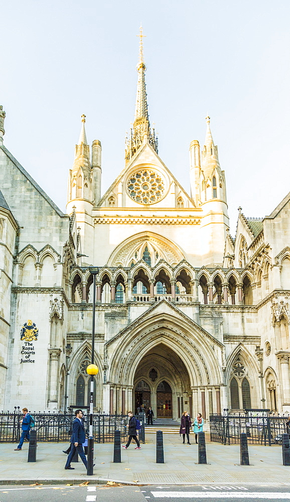 The Royal Courts of Justice in London, England, United Kingdom, Europe. - 1297-503