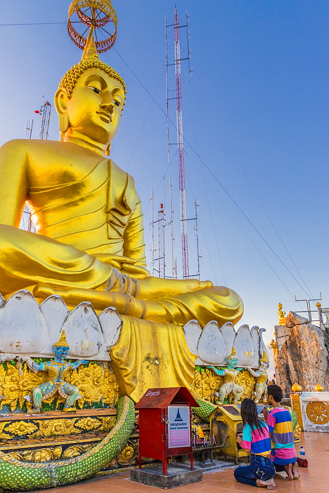 The big Buddha statue at the Tiger Cave Temple in Krabi, Thailand, Southeast Asia, Asia
