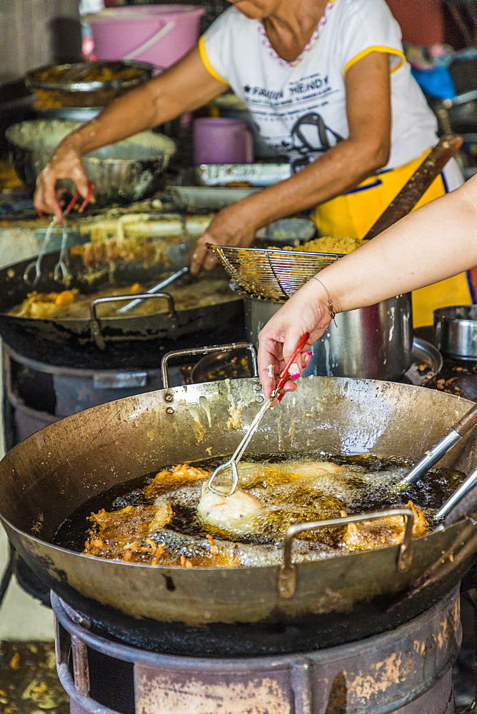 A view of a local food stall in George Town, Penang Island, Malaysia, Southeast Asia, Asia - 1297-762