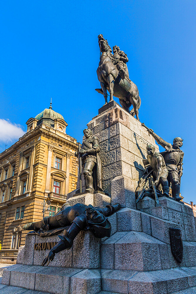 Grunwald Monument in Krakow, Poland, Europe.