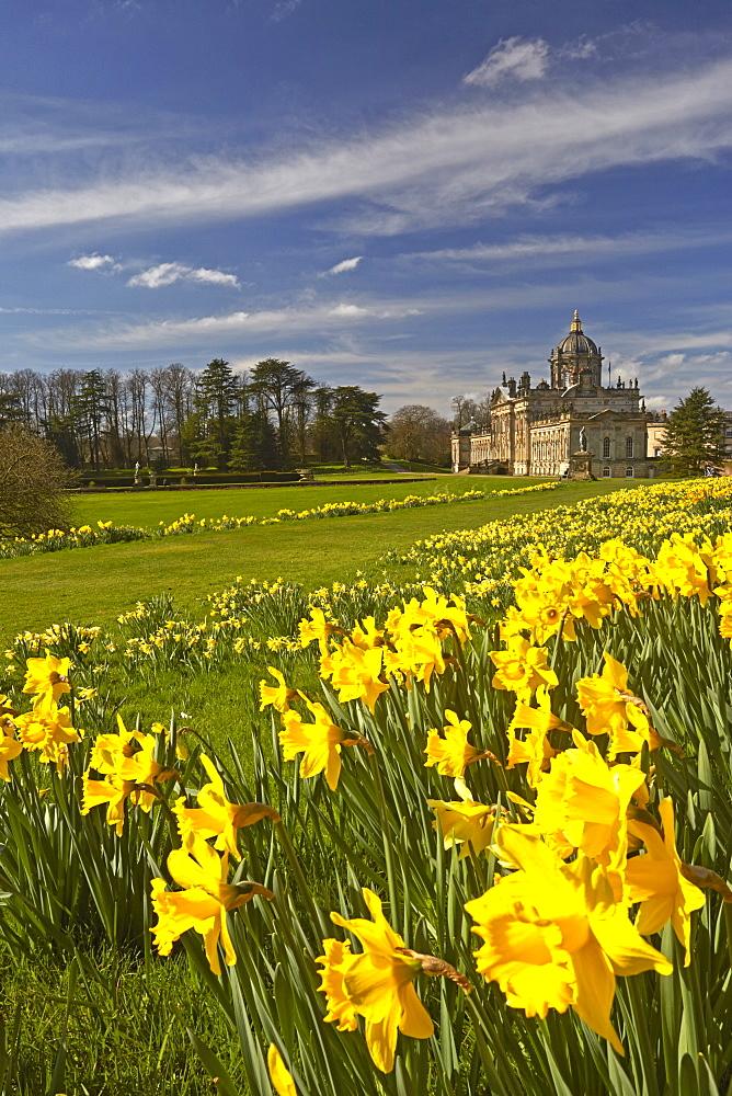 Springtime at Castle Howard, North Yorkshire, England, United Kingdom, Europe - 1298-37