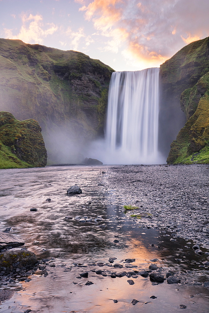Skogafoss at Sunrise in the Summer. - 1304-3