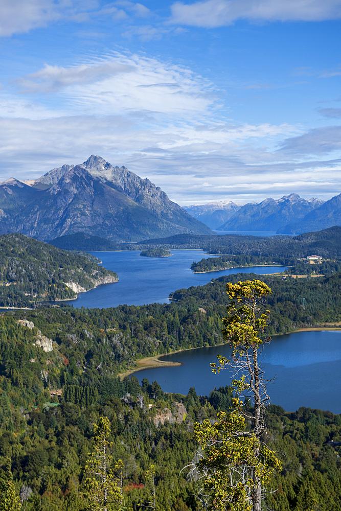 View of Cerro Campanario, Bariloche, Patagonia, Argentina, South America