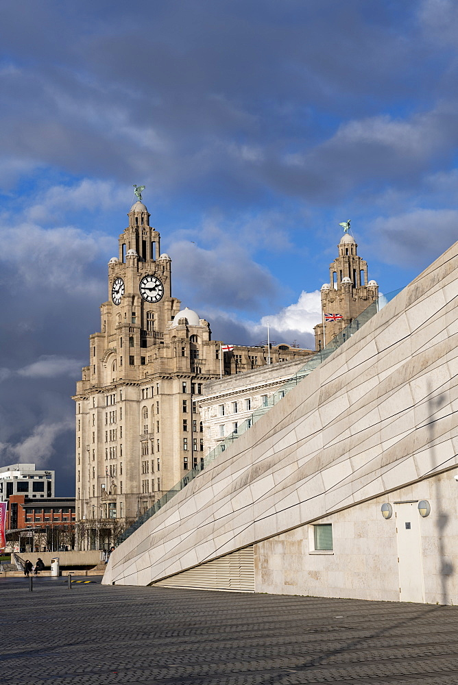 The iconic Liver Building at the Pier Head, UNESCO World Heritage Site, Liverpool, Merseyside, England, United Kingdom, Europe - 1306-784