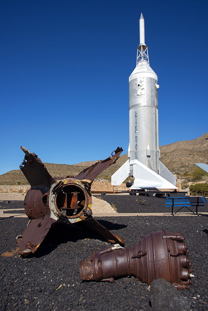 Outdoor exhibit at New Mexico Museum of Space History, Alamogordo, New Mexico, United States of America, North America