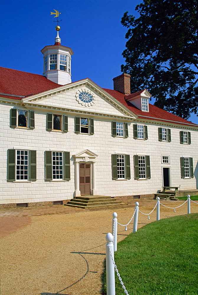 Mount Vernon, the home of George Washington, the first President, in Virginia, United States of America, North America