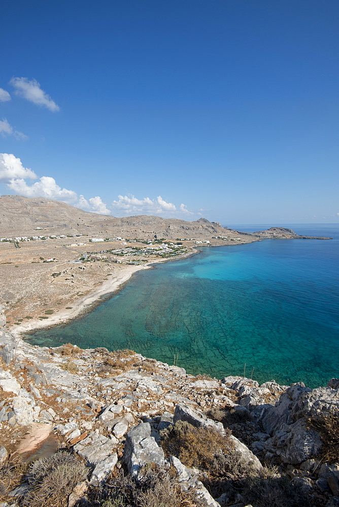 View of Navarone Bay, Rhodes, Greece