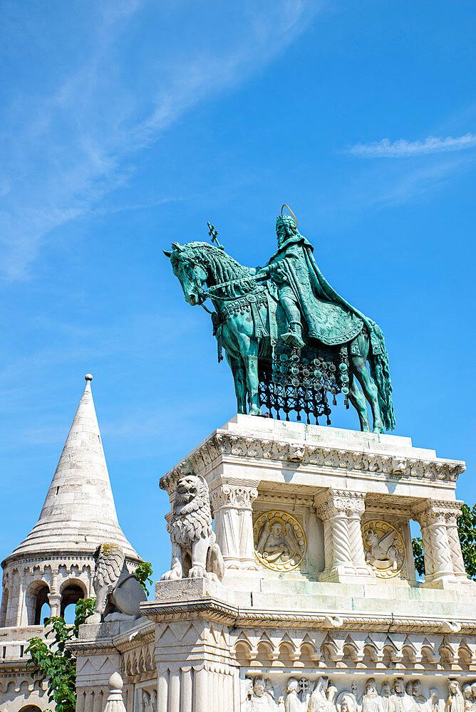 King Saint Stephen statue, Budapest, Hungary - 1341-109