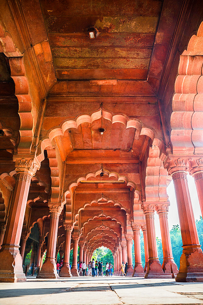 Diwan-i-Aam audience hall, Red Fort, UNESCO World Heritage Site, Delhi, India, Asia - 1341-29