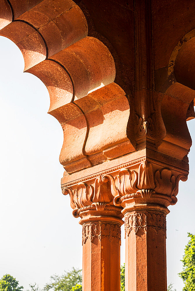 Diwan-i-Aam audience hall, Red Fort, UNESCO World Heritage Site, Delhi, India, Asia - 1341-33
