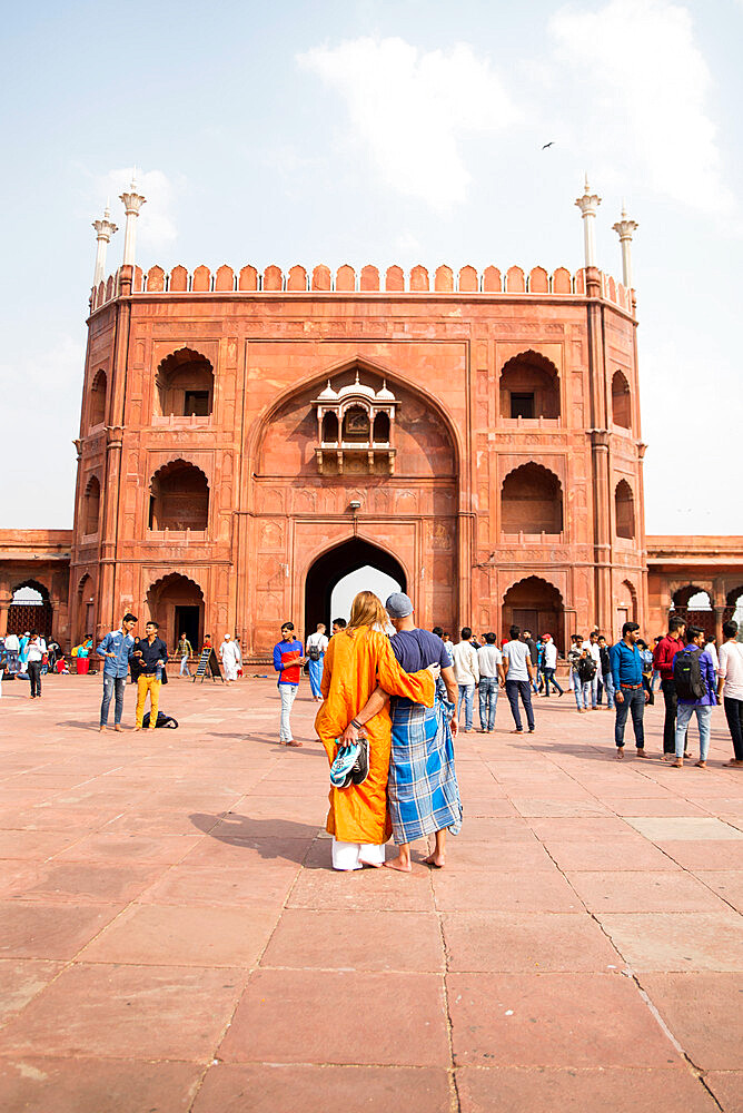 Jama Masjid Mosque, New Delhi, India, Asia - 1341-4