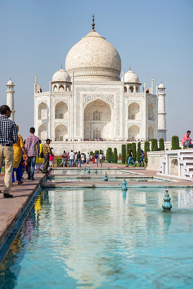 Taj Mahal, UNESCO World Heritage Site, Agra, Uttar Pradesh, India, Asia - 1341-51