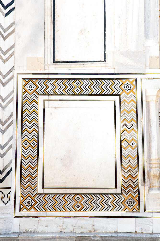 Detail, Taj Mahal, UNESCO World Heritage Site, Agra, Uttar Pradesh, India, Asia - 1341-69