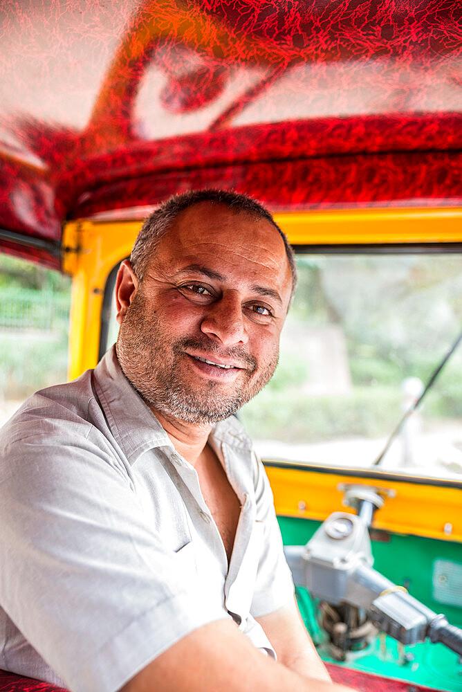 Tuk Tuk driver, New Delhi, India, Asia - 1341-78