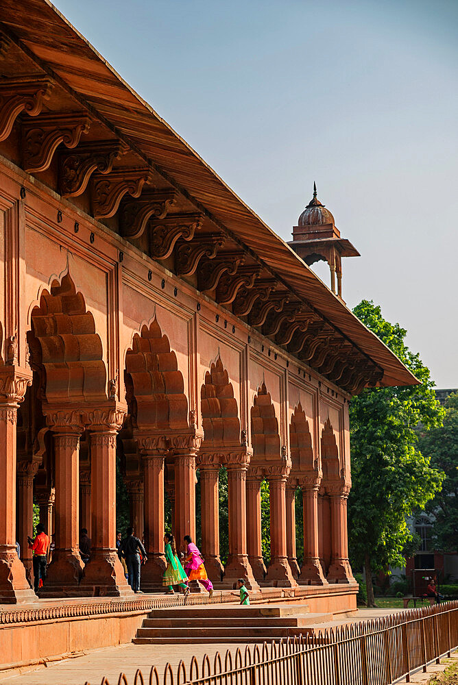 Diwan-i-Aam audience hall, Red Fort, UNESCO World Heritage Site, Delhi, India, Asia - 1341-86