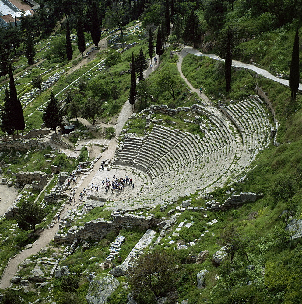 The theatre, Delphi, UNESCO World Heritage Site, Greece, Europe