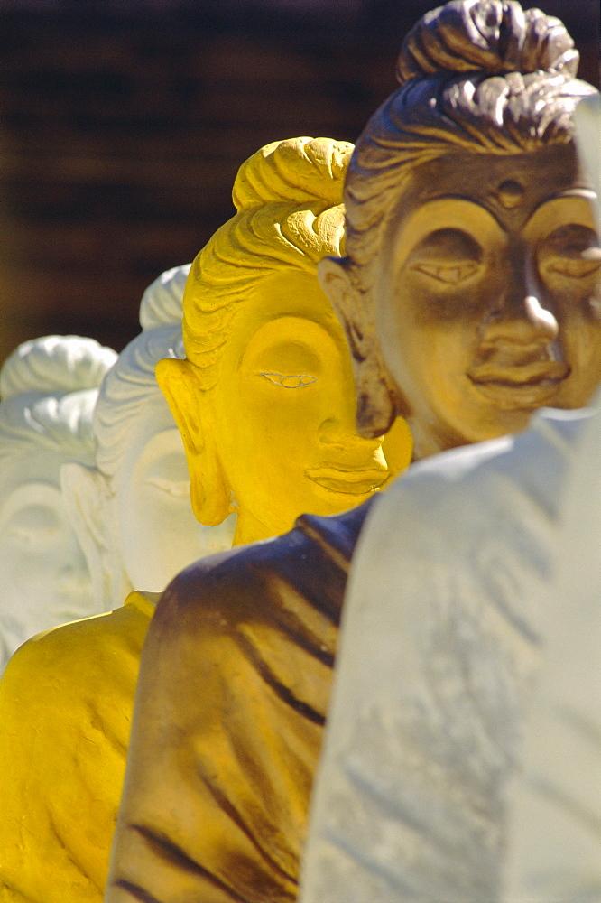 The 106 pieces of coloured cemented Buddha statue, Wat Pangbua, Samui Island (Koh Samui), Thailand