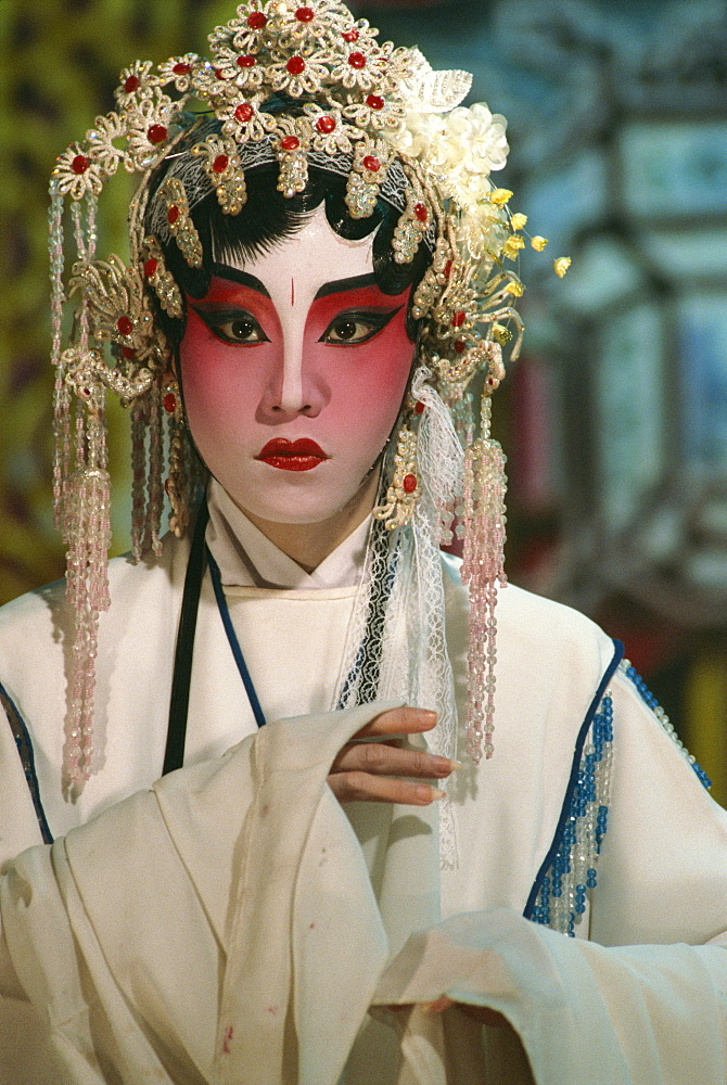 Chinese opera actors perform all year round, Singapore, Southeast Asia, Asia - 142-4755