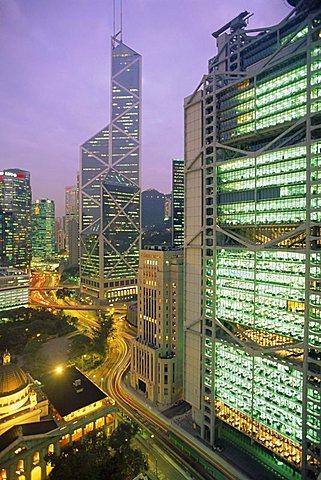 Central from Princes Building, Legco Bank of China, HK Bank, Hong Kong, China, Asia - 150-1692