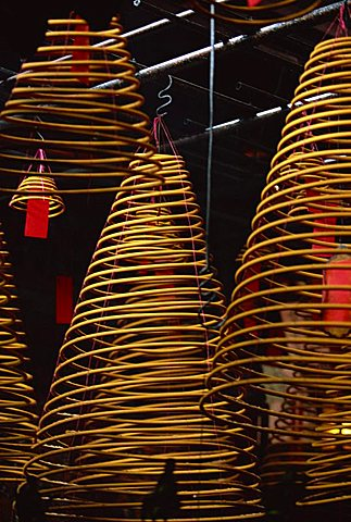 Coils of incense in Hong Kong, China, Asia