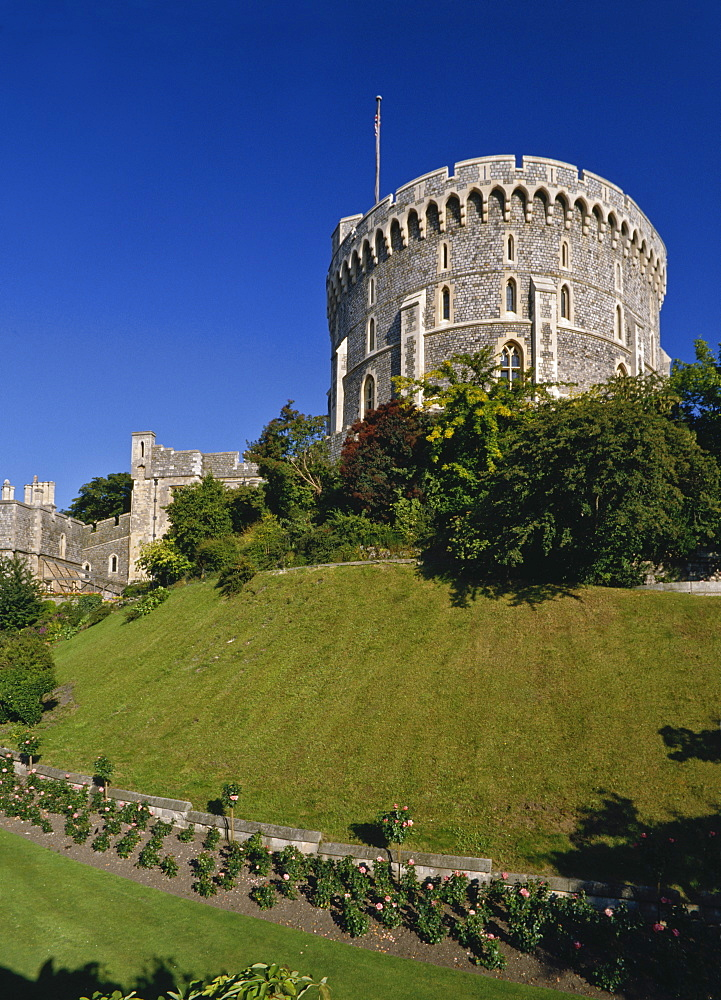 The Round Tower at Windsor Castle, Berkshire, England, United Kingdom, Europe - 16-3194