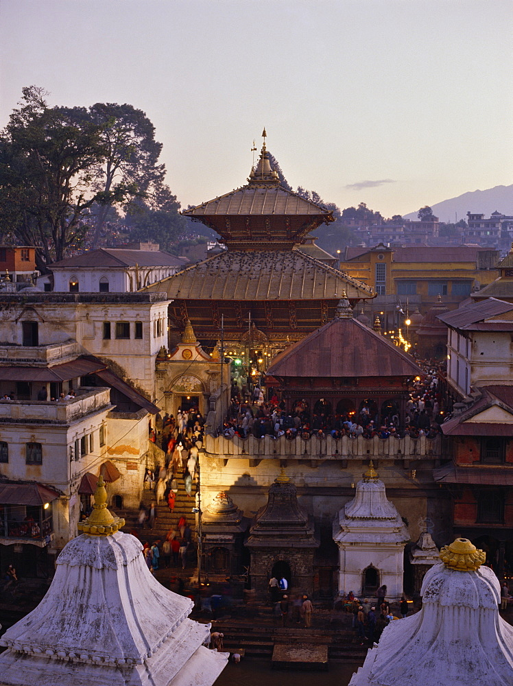 Pashupatinath temple, UNESCO World Heritage Site, Kathmandu, Nepal, Asia - 16-3197
