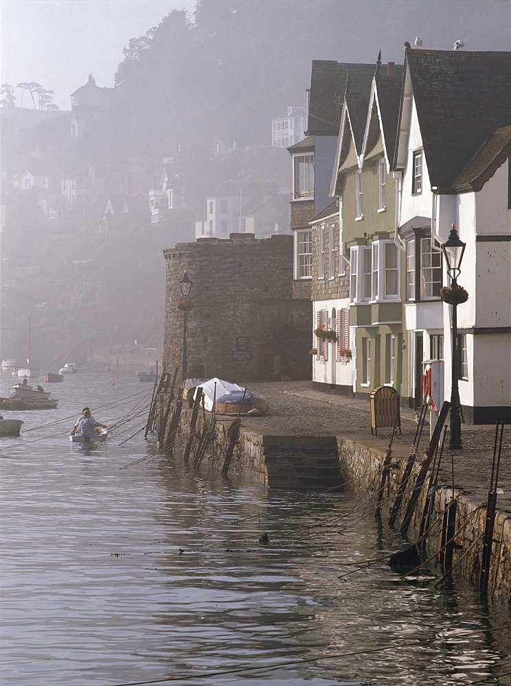 Misty morning at Dartmouth harbour, Devon, England, United Kingdom, Europe - 16-3205