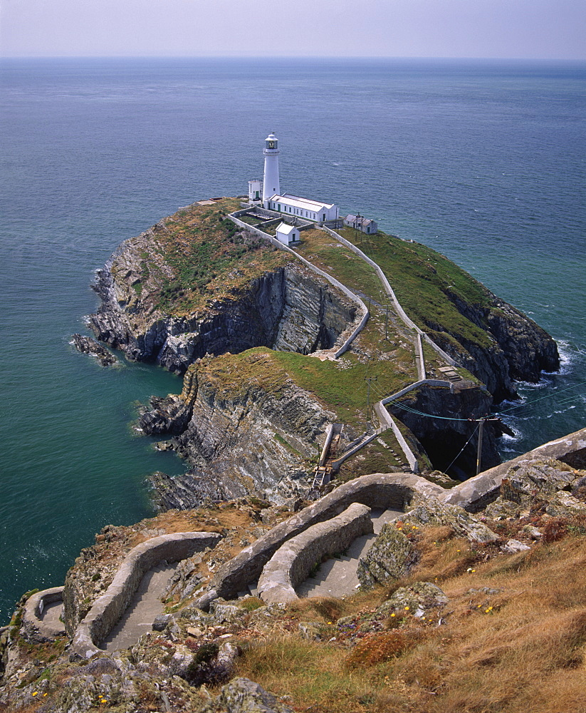 South Stack lighthouse on the western tip of Holy Island, Anglesey, North Wales, Wales, United Kingdom, Europe - 16-3252