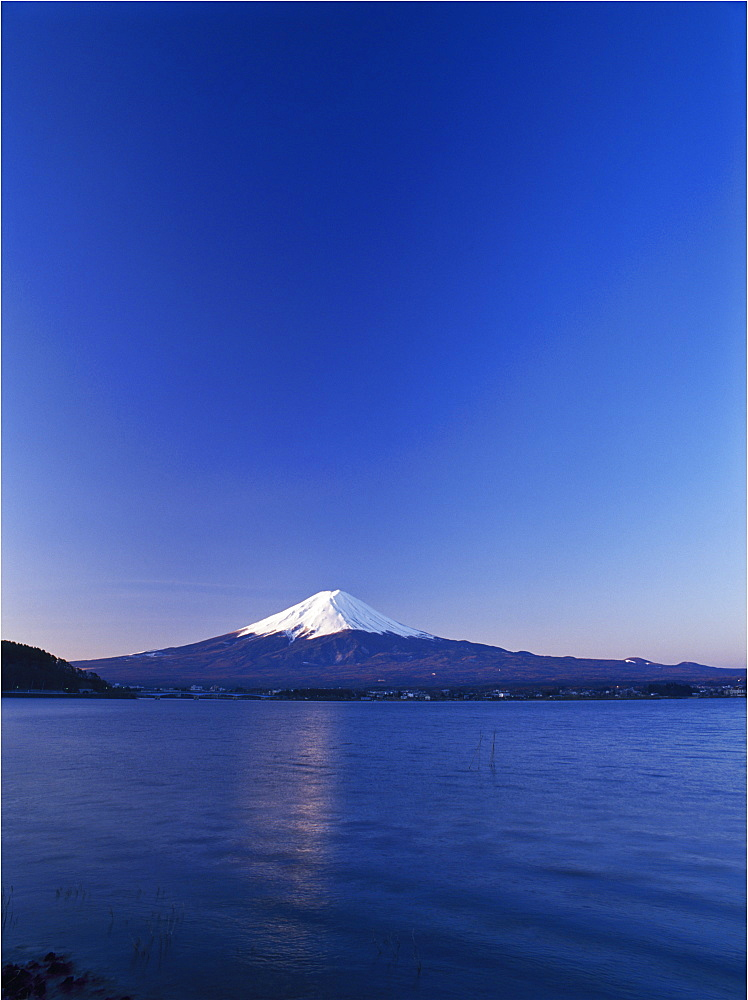 Mount Fuji from Lake Kawaguchi-ko, Yamanashi Prefecture, Japan, Asia