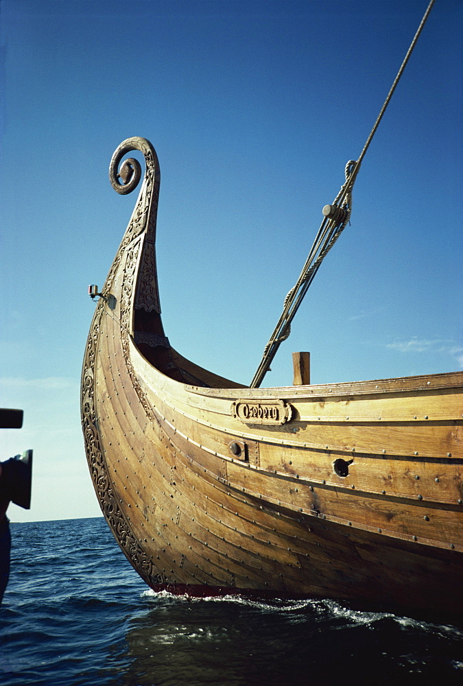 Replica of 9th century Viking ship, Oseberg, Norway, Scandinavia, Europe