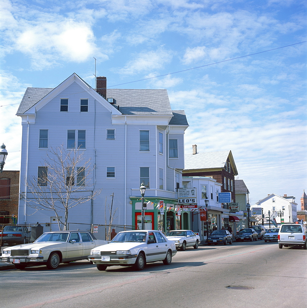 Street scene in the town of Providence, Rhode Island, New England, United States of America, North America