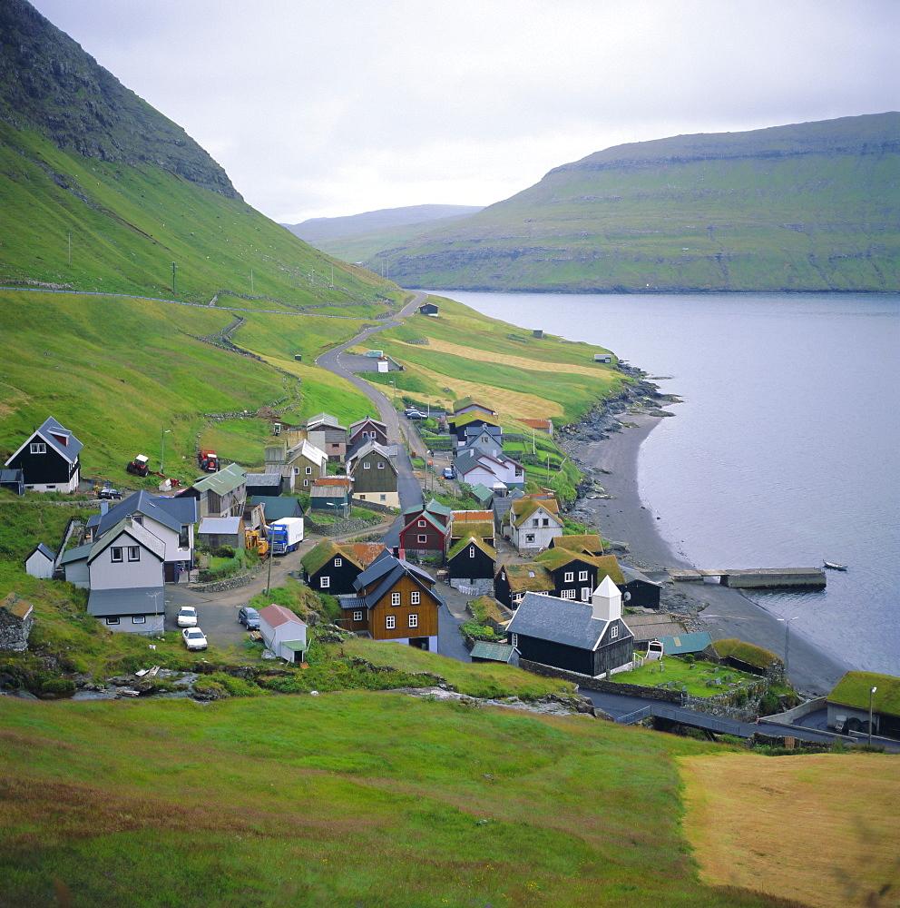 Sorvagur, Vagar, Faroe Islands, a self-governing dependancy of Denmark, Europe