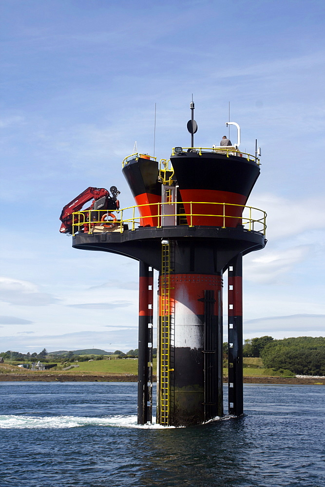Experimental tidal generator, Strangford Lough, County Down, Ulster, Northern Ireland, United Kingdom, Europe - 166-5288