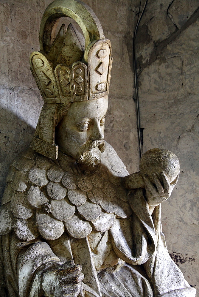 Tomb of Charles IV of Bohemia and Moravia, Palais des Papes, UNESCO World Heritage Site, Avignon, Rhone Valley, Provence, France, Europe