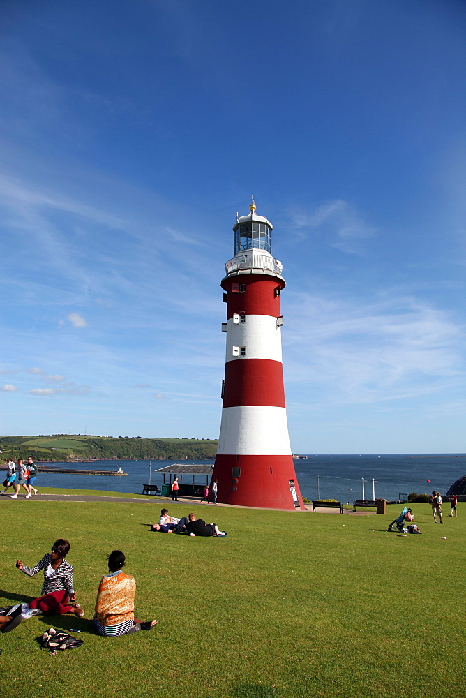 Smeaton's Tower, Plymouth Hoe, Plymouth, Devon, England, United Kingdom, Europe - 166-5463
