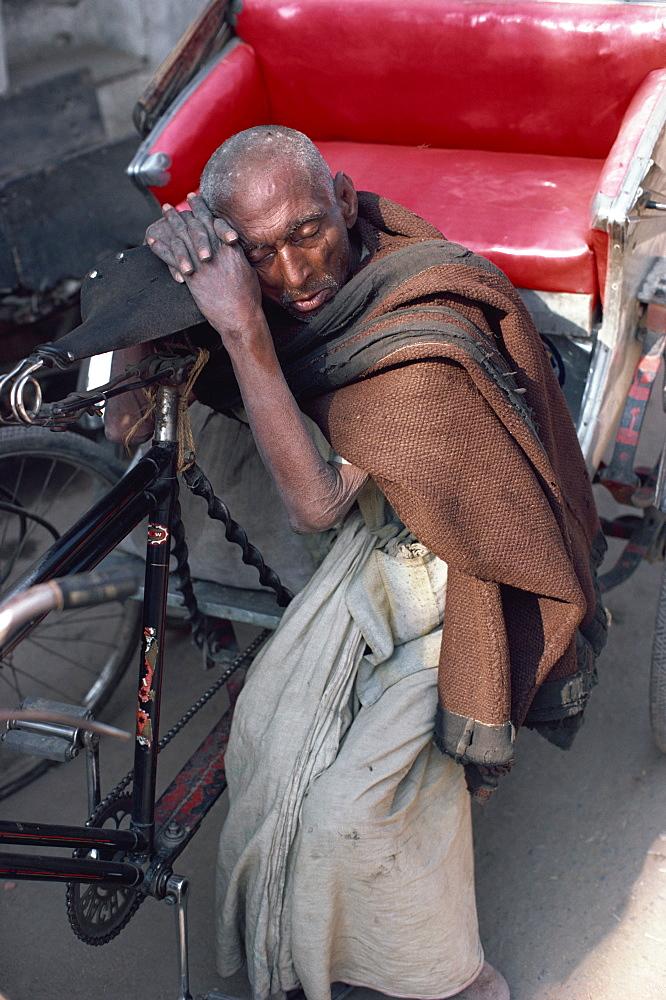 Cycle rickshaw driver, India, Asia
