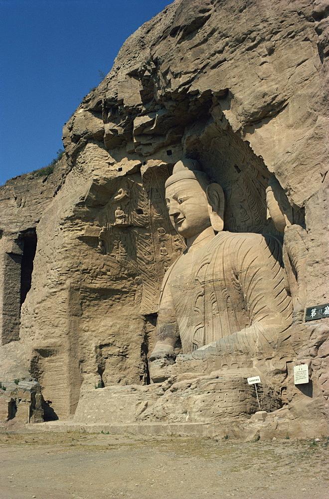 Yungang Buddhist Caves, Datang, Shanxi, China, Asia - 188-1009